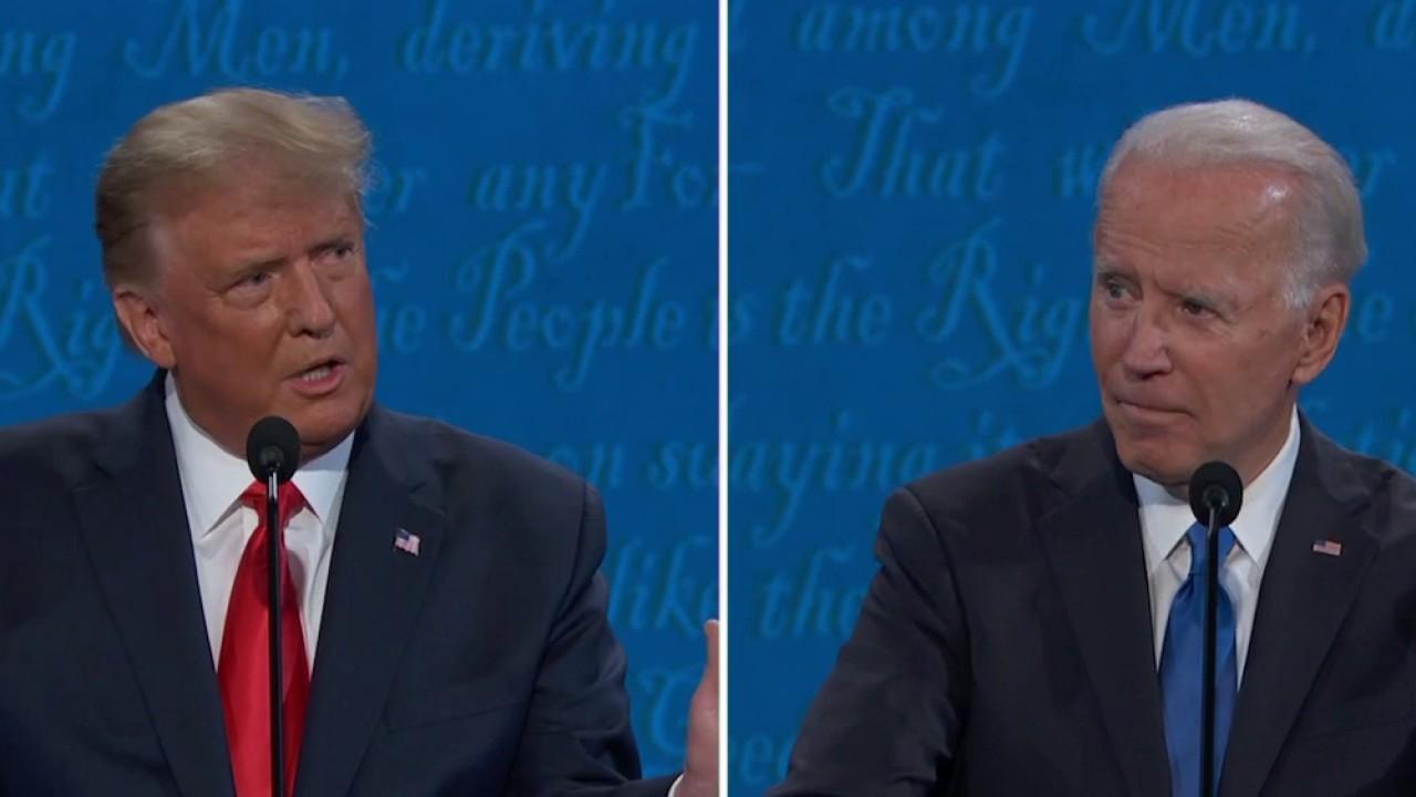 President Trump rips Joe Biden over Wall Street donors.