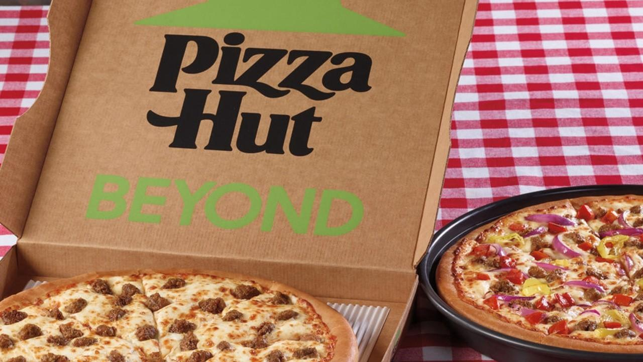 Pizza Hut Interim President Kevin Hochman on partnering with Beyond Meat to offer a plant-based topping, the impact of the coronavirus pandemic on business and its new gravity blanket.