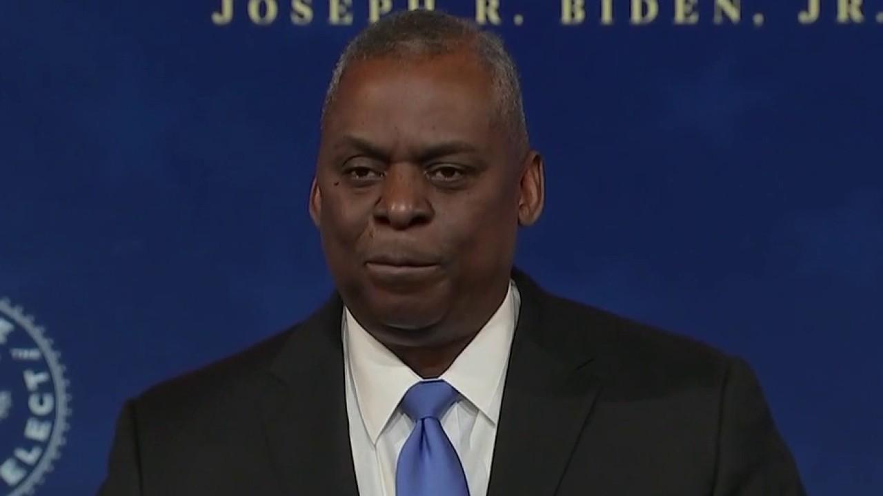 Gen. Lloyd Austin addresses his nomination as defense secretary by President-elect Biden.