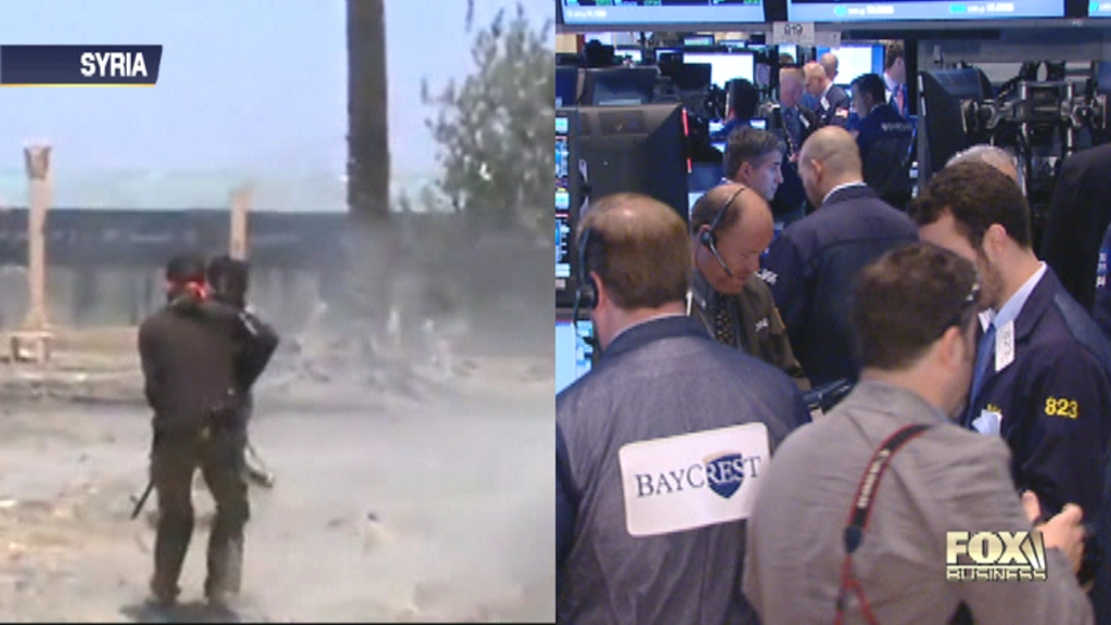 The Street will keep a close eye on the crisis in Syria. Retail sales will also be released. Christina Scotti reports